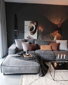 Great Decorating ideas for Living Room Cozy home decor, living room decoration ideas, modern interior design, modern home decor Home Decor Bedroom, Interior Design Living Room, Living Room Designs, Diy Home Decor, Bedroom Apartment, Apartment Living, Apartment Design, Thrifty Decor, Interior Livingroom