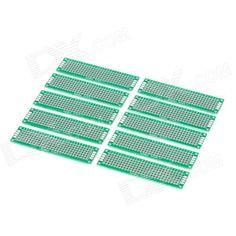 10 ADET Çift Yan Bakır Prototip Pcb 2*8 Paneli Evrensel Kurulu Arduino için 2*8 cm