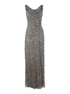 Shubette Cowl Neck Sequin Maxi Dress in Gray (silver)
