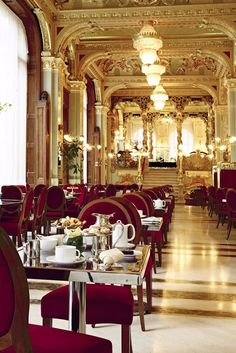 This opulent cafe in the Boscolo Budapest is one of its most treasured and historic spaces. Boscolo Budapest (Budapest, Hungary) - Jetsetter