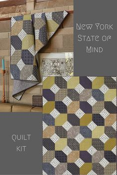 New York State of Mind is from Quilting Quickly. It's a masculine quilt pattern, perfect for a guest room, a family member or a friend!