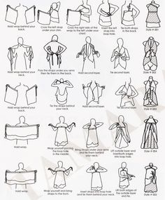 lots of ways to wrap a sari wrap skirt