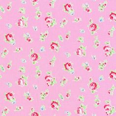 Lecien - Flower Sugar 2013 Fall - Tossed Floral in Pink - 8.50