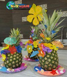 centro de mesa hawaiano