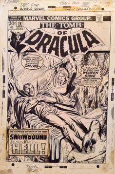 Gil Kane Tomb of Dracula 19 Cover Comic Art