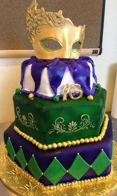Mardi Gras Sweet Sixteen Cake — Mardi Gras