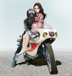 kamen rider, Shotaro Ishinomori / 仮面ライダー / May 2018 - pixiv Kamen Rider, Hero Machine, Alter, Sci Fi, Comics, Classic, Image, Derby, Science Fiction