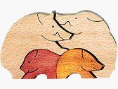 小さな十二支 亥(イノシシ) Year Of The Pig, Wooden Puzzles, My Children, Pigs, Wood Art, My Books, Chinese, Journey, Pattern
