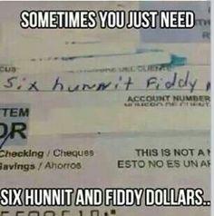 Six hunnit fiddy babyyyy
