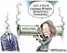 Michael Ramirez, Tulsa World, Democratic Party, Democratic Primary, Donald Trump Jr, Kamala Harris, Political Cartoons, Barack Obama, Funny Memes