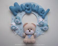 Enfeite Porta Maternidade Ursinho Bege