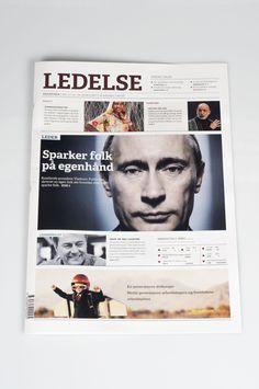 Newspaper design by Elma Mustajbegovic, via Behance