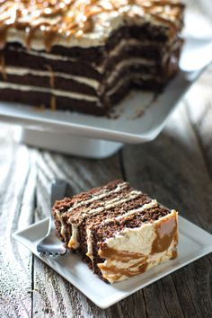 Devil's Food Cake with Salted Caramel Frosting by Sam Henderson of Today's Nest