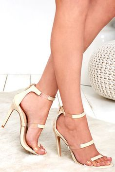 Alana Nude Patent Ankle Strap Heels at Lulus.com!affiliate