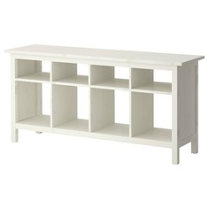 HEMNES Sofa table - white stain - IKEA -- for art supplies. I want to put this in the dining area instead of todays non solution, those non-stacking boxes