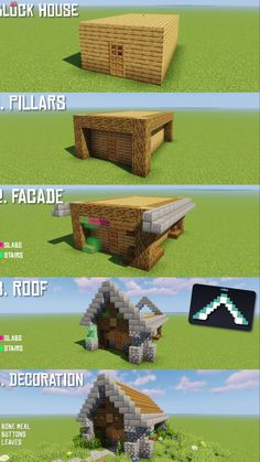 r/Minecraft – How to transform every block house in 4 easy steps! - Minecraft World 2020 Casa Medieval Minecraft, Minecraft House Plans, Minecraft World, Cute Minecraft Houses, Minecraft House Tutorials, Minecraft Houses Survival, Minecraft Room, Minecraft Houses Blueprints, Minecraft House Designs
