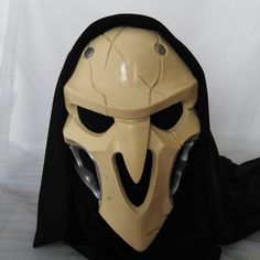 Overwatch+Reaper+Cosplay+Mask      Characters:+Reaper  Material:+Resin  Available+for:+Cosplay,+Party,+Carneval,+Halloween  Condition:+Made+to+Order  Package+includes:+Mask  Size:+One+size+fits+the+most  Tailoring+Time:+7-20+days      Shipping+Method  Shipping+to+USA:+normally+within+15+business+...