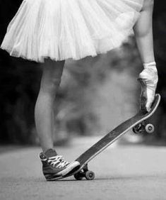 "Amelia Short. The name may be deceiving. She was a 14 year old who ""wasn't built right for dance"". So, she started skate boarding during the day and secretly training for dance in her free time. No one knew who she really was. And she loved it."