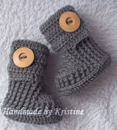 baby booties shoes boots baby boy shoes crochet by kristine1986, $22.00