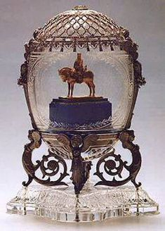 Alexander III Equestrian Monument Fabergé Egg, 1910, presented by Nicholas II to Dowager Empress Maria Fyodorovna
