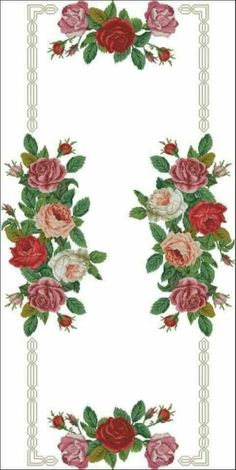 This Pin was discovered by SAH Cross Stitch Love, Cross Stitch Borders, Cross Stitch Flowers, Cross Stitch Designs, Cross Stitching, Cross Stitch Embroidery, Hand Embroidery, Cross Stitch Patterns, Embroidery Patterns Free