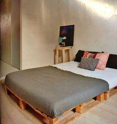 Bett selber bauen paletten  Europaletten Bett - 24 traumhafte und preiswerte Beispiele! | Pallet ...