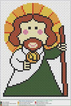 jesus cute EN PUNTO DE CRUZ, Cross stitch patterns