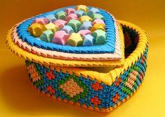 3d origami heart box - Google-haku