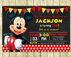 Mickey Mouse imprimir invitaciones de cumpleaños