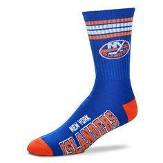 Adult For Bare Feet New York Islanders Deuce Striped Crew Socks, Men's, Multicolor