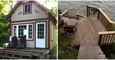Cheap Ontario Cottage For Sale On An Island Only Costs $75K (PHOTOS) - Narcity Ontario Cottages, Cabin, Island, House Styles, Photos, Home, Pictures, Cabins, Photographs