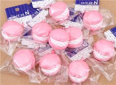 cute small pale pink macaron squishy cellphone charm 7