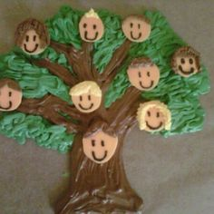 The family tree for the reunion cake