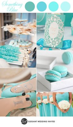 chic Tiffany blue wedding color ideas and lace wedding invitations- I love these colors!