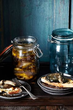 Aubergines Preserved in Oil