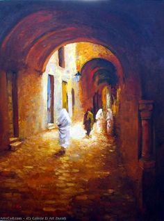 La Galería Popurrí — Galerie D Art Zneidi – The Medina Art Palestine, Galerie D'art En Ligne, City Art, Orange And Purple, Acrylic Painting Canvas, Art Gallery, Palette, Watercolor, Roots