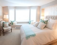 #Grey And #Turquoise #Bedroom Design that's so romantic