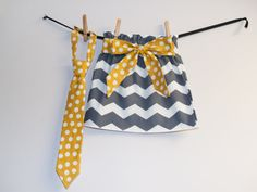 Brother Sister Matching Skirt and Necktie by KarolinaDesigns