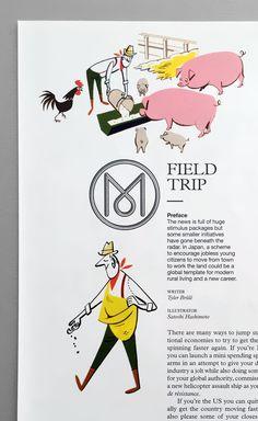 A rural career - Field Trip illustrations by Satoshi Hashimoto : www.dutchuncle.co.uk/satoshi-hashimoto