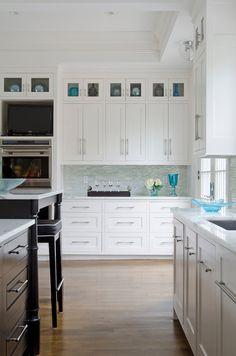 marble and aqua kitchen
