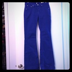Bright blue, NWOT Rag and Bone Elephant Flares! Never worn, bright blue color. Perfect for work to happy hour transition, very versatile and comfortable. rag & bone Jeans Flare & Wide Leg