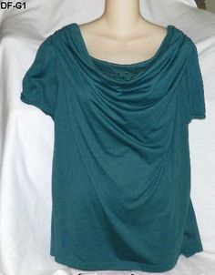Daisy Fuentes Forest Green Cowl-Neck Top - Size 1X -$9.99  #starchild3