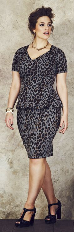 Leopard Dresses for Plus Size Women...this outfit would work really well in the corporate woman's wardrobe...imagine mix and matching with a nice black or charcoal grey suit. Animal print goes with any colour so you could have so much fun working it.
