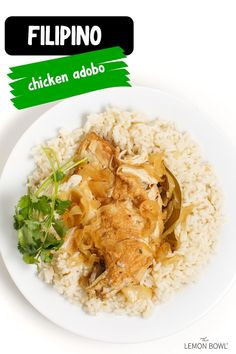 High protein, low carb, and delicious, this Filipino Chicken Adobo is the perfect easy dinner recipe for busy weeknights #dinner #recipes #mealprep #easyrecipes #healthy #highprotein Lemon Bowl, Brown Rice, Lunches And Dinners, Filipino, High Protein, Easy Dinner Recipes, Family Meals, Meal Prep, Smoothies