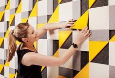 Gorgeous eco-friendly EchoPanel acoustic tiles look like art.