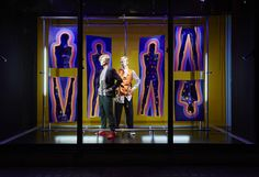 Harvey Nichols TATE Modern The Art of Style windows - installed by Lucky Fox - Knightsbridge London September 2015
