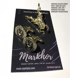 Dedicated to all Markhors - Snake Killers #Lapelpins #Souvenirs #Badges #Accessories #Tieclips #Markhor #Haider #ISI #PakistanArmy #Saariyas #PakArmy #MenAccessories #Cufflinks #Gifts #MenGifts #Scarfs #Pens #Lapelpin #Pakistan #Sherdils #PAF #PakistanNavy #Army #Airforce #navy Pakistan Army, Pin Badges, Lapel Pins, Scarfs, Pens, Snake, Cufflinks, Drop Earrings, Metal