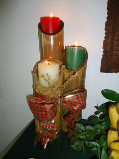 Decoração de natal usando bambú - Castorina