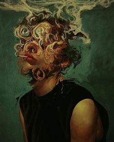 Illustration Art By Aykut Aydoğdu Aykut Aydoğdu, Turkey is an artist born in 1986 in Ankara. Aydoğdu, who has worked on art in both his high school years Art Bizarre, Art Sketches, Art Drawings, Abstrakt Tattoo, Art Et Design, Arte Obscura, Ap Art, Fine Art, Psychedelic Art