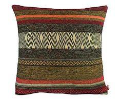 Casa trendy: Cojín de lana y algodón Eleanor - multicolor